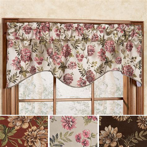 dahlia floral shaped window valance