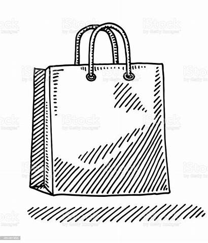 Bag Shopping Drawing Paper Dessin Clipart Tragetasche