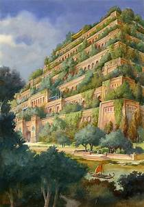 Hanging Gardens Of Babylon Drawing by English School