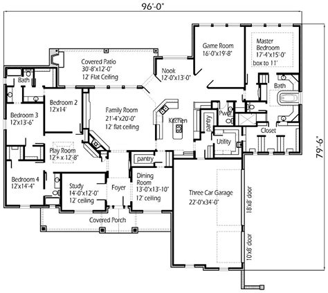 house plan ideas four bedroom large family house floor plans layout