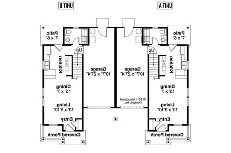 2 Bedroom Bath Duplex Floor Plans Two One 2018 And