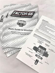 Factor 55 Basic Guide To Winching Manual