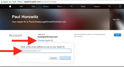 Click view information near the top of the window. appleid apple com change