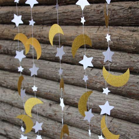 pcs gold glitter moon star garland twinkle twinkle