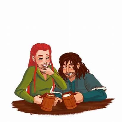 Kili Tauriel Hobbit Irrel Drunk