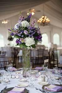 purple center pieces in the grand outdoor ballroom