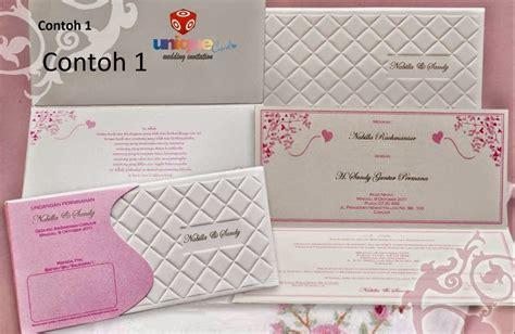 contoh desain undangan pernikahan simple  elegan