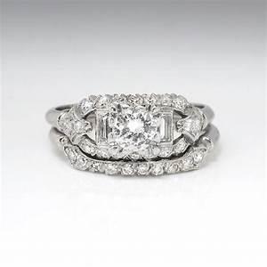 Vintage Art Deco 193039s 81ct Tw Rare Engagement Wedding