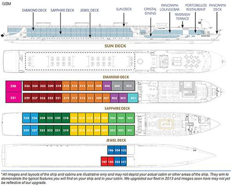 Gem Deck Plan 4 by Scenic Cruises Scenic Gem Deck Plan
