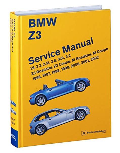 Bmw Z3 Service Manual 1996, 1997, 1998, 1999, 2000, 2001