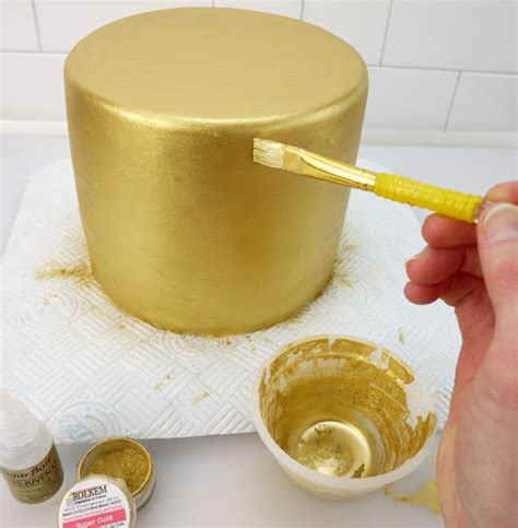 how to paint a cake gold cake craft world news
