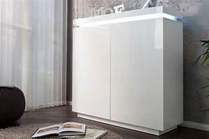 Kommode Weiß Hochglanz 120 Cm : design kommode venue hochglanz weiss 120cm inkl led farbwechsel funktion ~ Bigdaddyawards.com Haus und Dekorationen