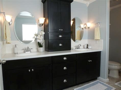 how to design a luxury bathroom with black cabinets