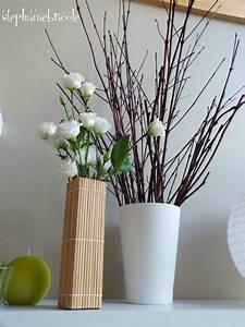 Set De Table Bambou : diy vase en bambou avec un set de table ~ Teatrodelosmanantiales.com Idées de Décoration