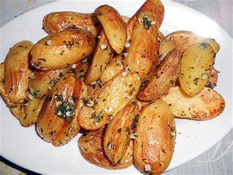 cuisiner pomme de terre grenaille recette de pommes de terre grenaille ail et persil