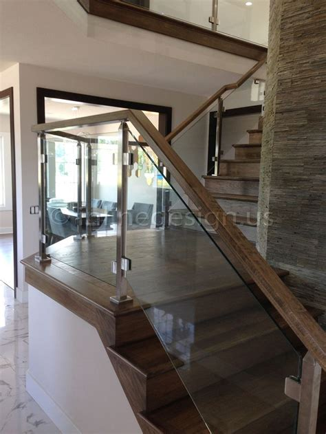 Stair Banister Glass by Glass Balusters For Railings Single Stainless Steel