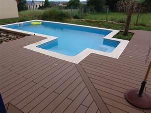 terrasse piscine geolam With amenagement autour de la piscine 5 menuiserie exterieure platelage de piscine terrasse bois