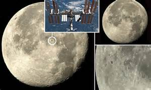 ISS captured in stunning images as it makes rare pass in ...