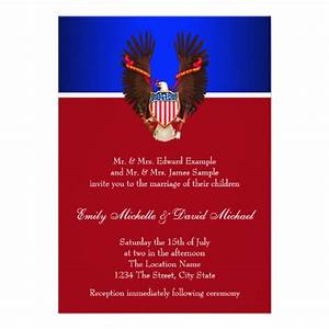 red white and blue patriotic wedding invitations 5quot x 7 With red and white wedding invitations uk