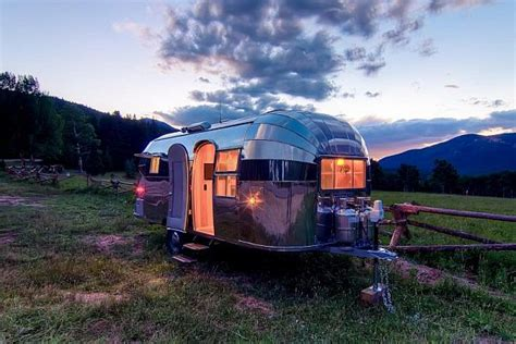 restored airstream flying cloud travel trailer