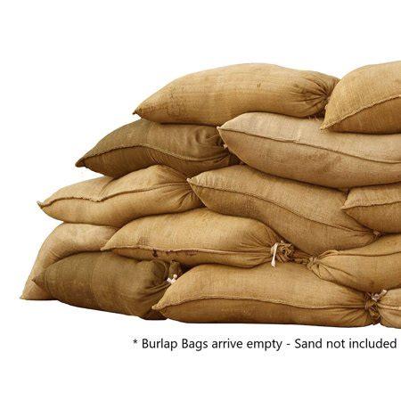 sandbaggy burlap sand bag size    sandbags
