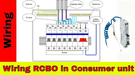 wire rcbo  consumer unit uk rcbo wiring youtube