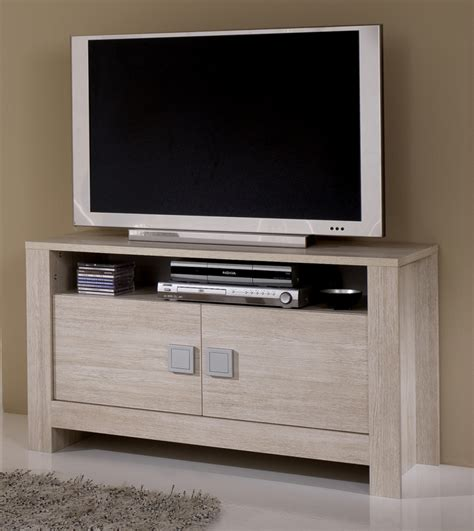 meuble bas cuisine 2 portes 2 tiroirs meuble tv pisa chene blanchi soho