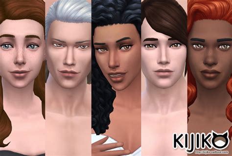 Sims 4 Default Skin Skin Tones Non Detail Skin Cc And Mm