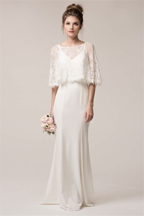 Vintage style simple bohemian wedding dress BC #TRW24606
