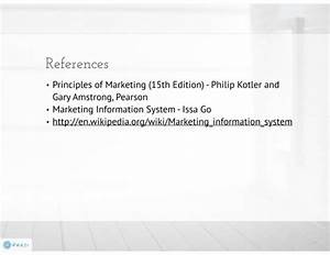 Marketing Information System And Marketing Research