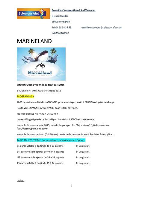calam 233 o devis bps 2016 walibi marineland port aventura du 05 09 2015 tarifs a ce jour sous