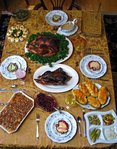 national cuisine of thanksgiving repas