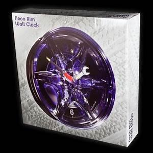 Neon Alloy Wheel Rim Alarm Clock