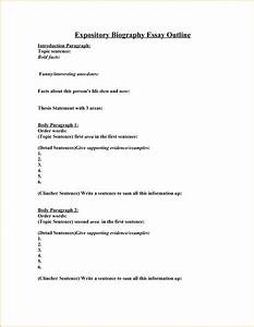 Outline Autobiography 006 Biography Essay Outline Example Biographical Examples