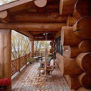 Log Cabin Front Porch Ideas