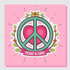 Love And Peace : peace and love vector illustration download free vectors ~ A.2002-acura-tl-radio.info Haus und Dekorationen
