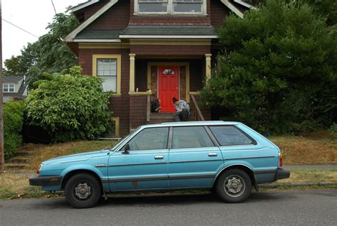 subaru wagon 1980 old parked cars 1981 subaru gl 5 wagon