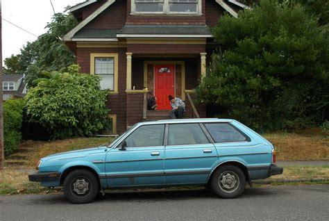 subaru wagon 1980 old parked cars 1981 subaru gl 5 wagon