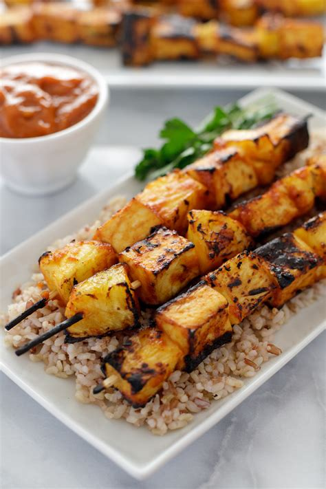 grilled tofu grilled tofu kabobs with spicy marinade recipe dishmaps