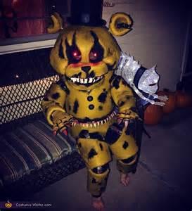 Golden Nightmare Freddy Costume