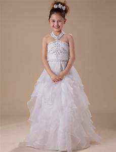 Hater organza satin white kid dresses for wedding flower for Dresses for flower girl in wedding