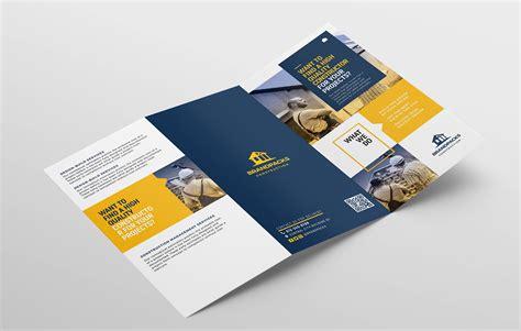 construction company brochure templates construction company tri fold brochure template in psd ai