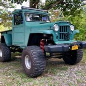 jeep gladiator  pickup custom bedchevy   ps pblifted  classic willys