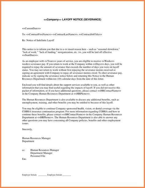 separation letter cover letter samples cover letter