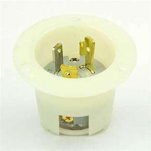 Superior Electric Ygf169 Twist Lock Flanged Inlet 3 Wire
