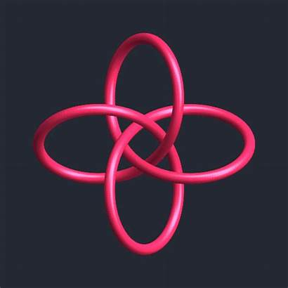 Math Knot Abstract 3d Morph Animated Tie