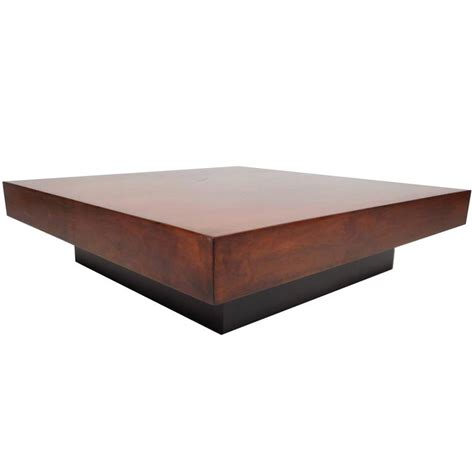 modern square coffee table large mid century modern square burl walnut coffee table