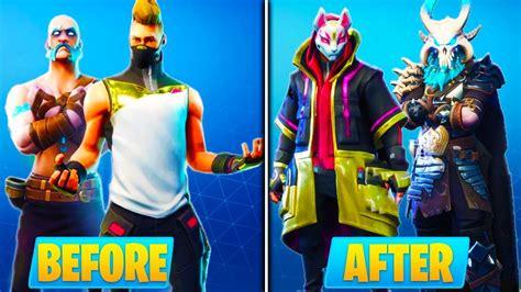 upgrade season  skins  fortnite fortnite