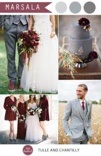 vintage wedding colors pantone marsala wedding color combo ideas color of the year 2015 tulle chantilly wedding