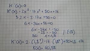 Durchschnittskosten Berechnen : kostenfunktion habe ich das betriebsoptimum richtig berechnet mathelounge ~ Themetempest.com Abrechnung